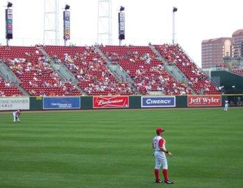 Jason Romano in left field