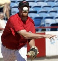 Pitcher Todd Coffey is seeing the ball better lately.