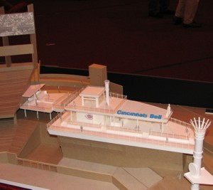 Cincinnati Bell Riverboat Deck and Cincinnati Bell Technology Pavilion Model