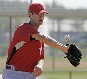 Reds pitcher Michael Gosling impresses a Detroit Tigers scout.