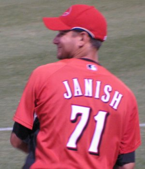 Paul Janish tosses