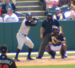 Dewayne Wise at the bat