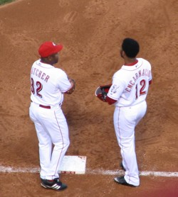EdE and Hatcher chatting at first