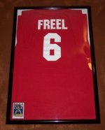 Ryan Freel signed shirt and card