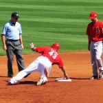 Cairo slides into second and asks for time