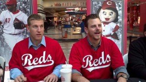 Frazier and Masset at Reds Caravan