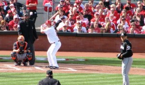 Rolen at the bat in 2012