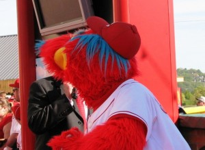 Gapper has worn a top hat and tails in the past, but kept his traditional baseball outfit on this time.