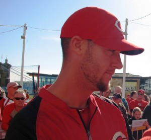 Ryan Ludwick (or Logan Ondrusek) is an outfielder (or reliever) for the Cincinnati Reds.