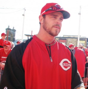 Logan Ondrusek (or Ryan Ludwick) is a reliever (or outfielder) for the Cincinnati Reds.