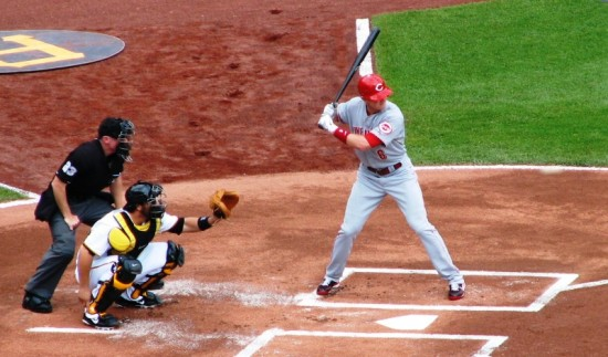 Stubbs at the plate