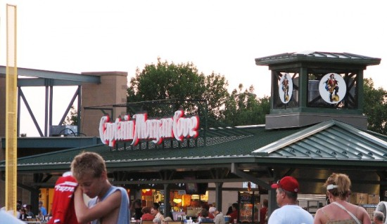 Captain Morgan's Cove: the best place to watch a game in Victory Field.