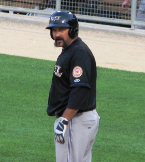 Catcher Corky Miller's mustache arrived in Indianapolis a full 15 minutes before he did.