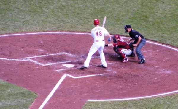 Ryan Ludwick laying off a ball outside.