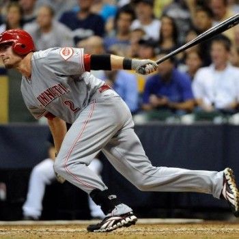 Zack Cozart coming out of the batter's box
