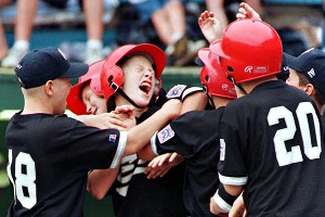 Todd Frazier after he hit a home run in the little league Word Series. AP Photo/Rusty Kennedy
