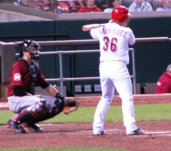 Henry Rodriguez got the first hit of his major league career.