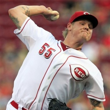 Mat Latos had a good game against the Phillies