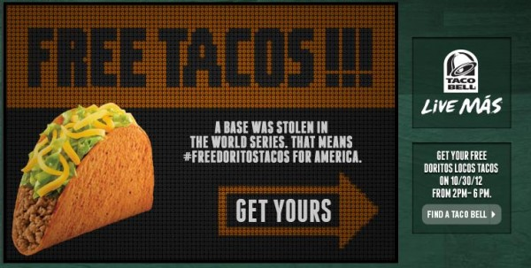 Taco Bell is giving out free tacos