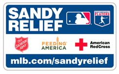 MLB logo for their Hurricane Sandy relief webpage