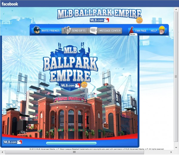Ballpark Empire app title screen