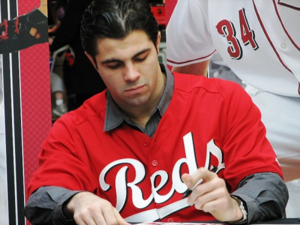Ryan Lamarre channels his best young John Stamos while autographing.