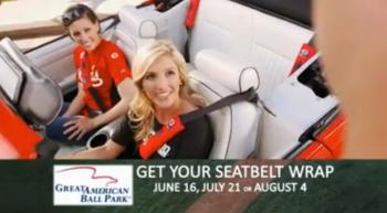 The FSO Women promoting seat belt wraps