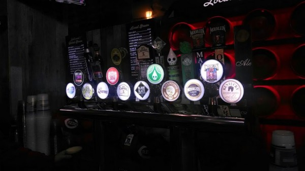 The tap handles at the new craft beer bar in Great American.