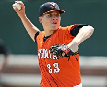 Howard pitches for the University of Virginia