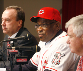 Wayne Krivsky and Dusty Baker. Thinking.