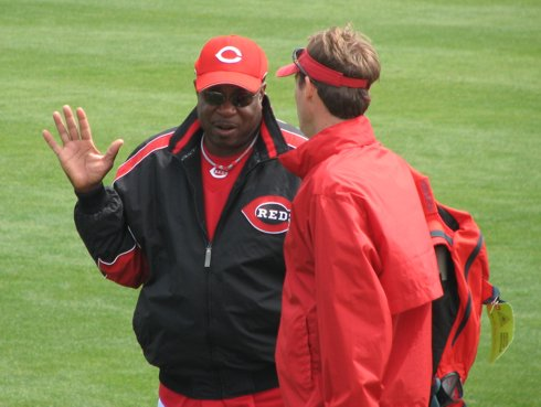 Dusty Baker chatting