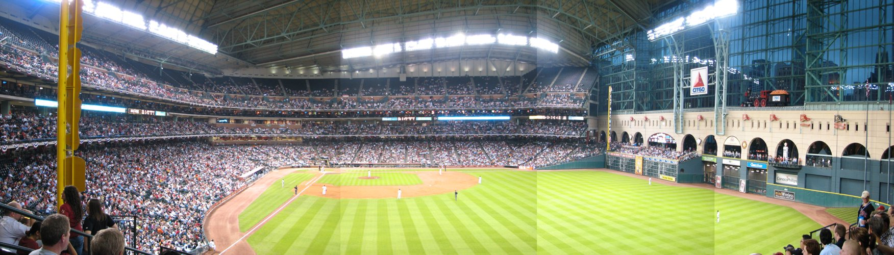 Minute Maid Park Panorama: Closed Roof