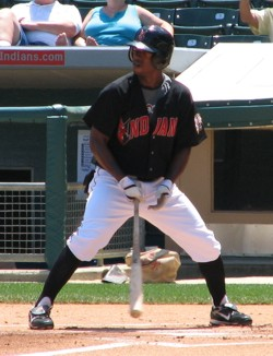 Nyjer Morgan holding his bat