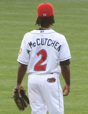 Andrew McCutchen patrolling center field