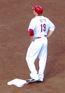 Votto on second base