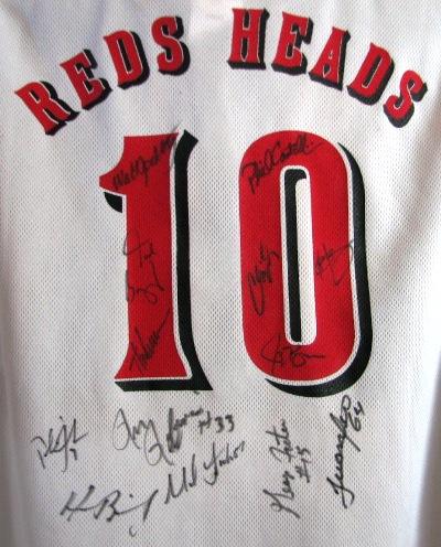 The 2010 Reds heads autograph shirt.