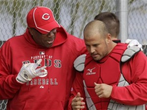 Baker, Hernandez, and a white glove