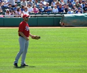 Heisey in center field