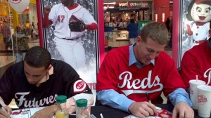 Billy Hamilton and Todd Frazier at Reds Caravan