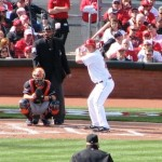 Scott Rolen bats for the first time in 2012.