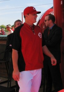 Jay Bruce shows off his trimmer body on the red carpet.