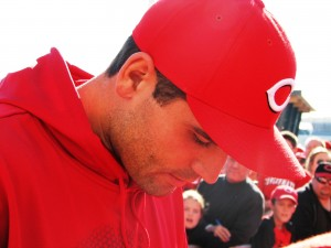 Like I said, Joey Votto was very close. And he signed my son's jersey!