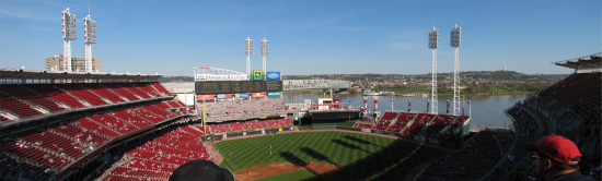 Panoramic view of Great American Ball Park