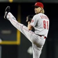 Arroyo pitching in AZ. AP Photo/Ross D. Franklin