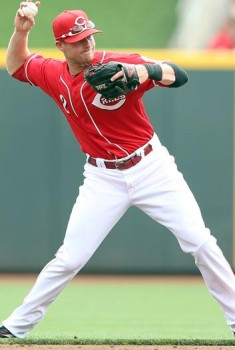 Zack Cozart throwing, via Getty images