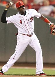 Brandon Phillips throwing