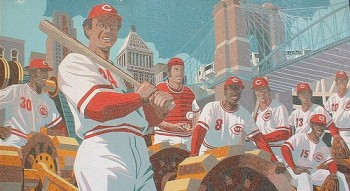 Mural of the Big Red Machine at Great American Ball Park