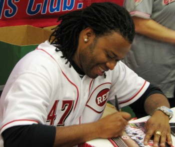 Cueto is soon to be off the bench and back on the mound if this rehab start goes well.