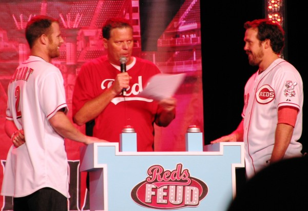 On the main stage, Jim Day hosted a Reds edition of Family Feud. In the battle between Zack Cozart and Sam LeCure, Cozart won quite handily, in both points and in groupies.