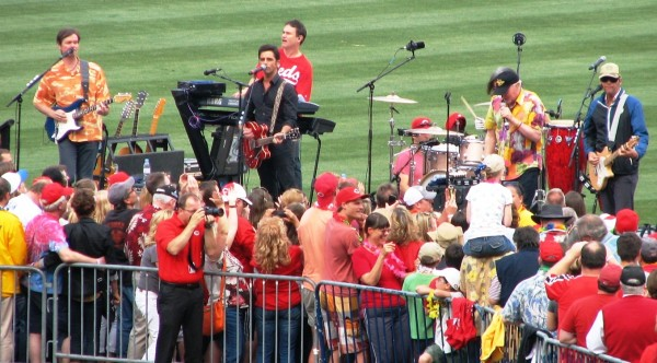 John Stamos performs with the Beach Boys